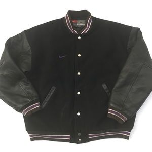 Vintage Rare Nike Leather Team Varsity Jacket